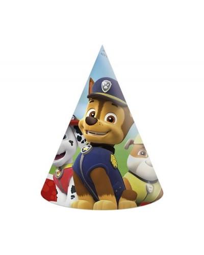 Czapeczki urodzinowe Psi Patrol 6szt.