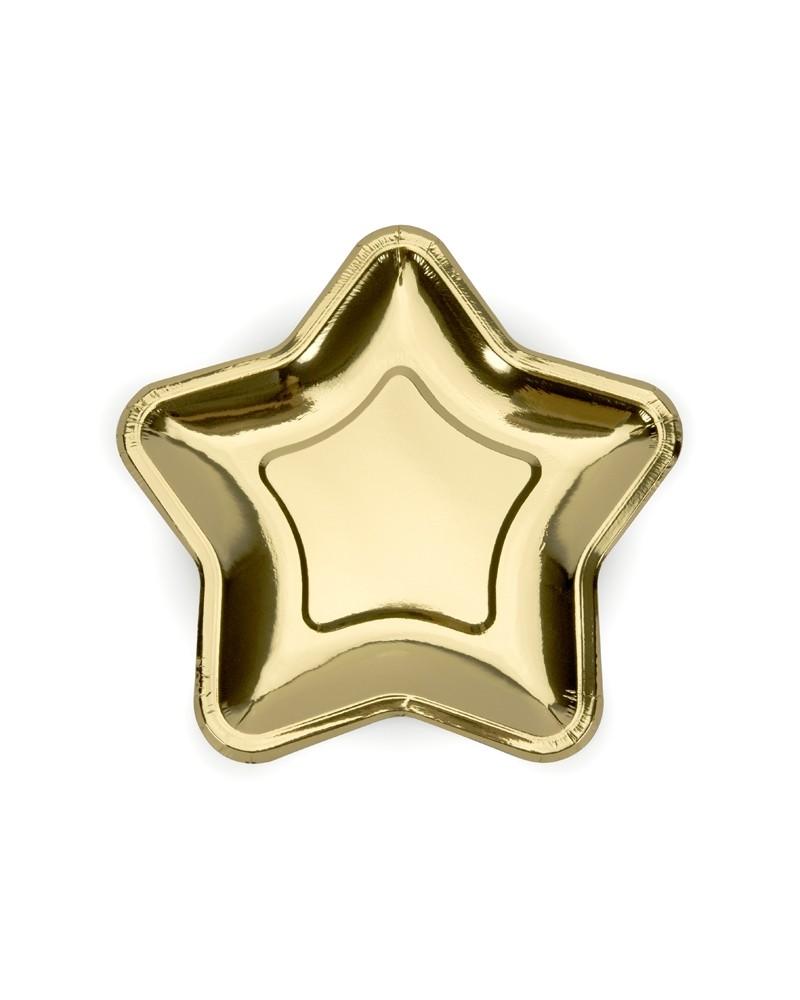 Talerzyki gwiazdy, duże, złote