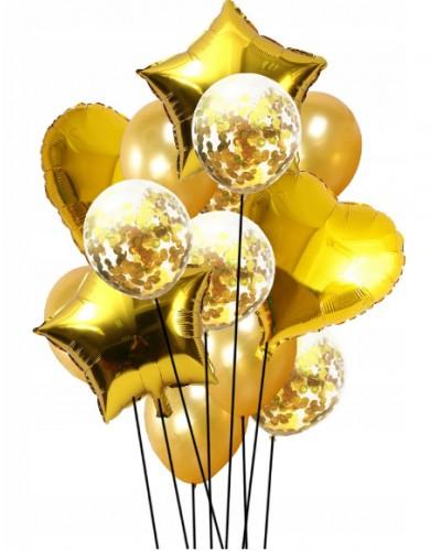 Zestaw na Urodziny Balony złote