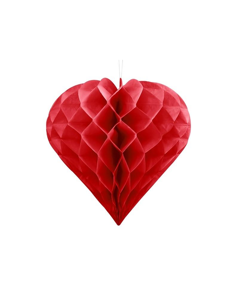 Serce bibułowe, 20cm