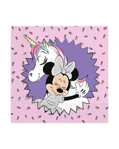Serwetki papierowe-Jednorożec Minnie Unicorn