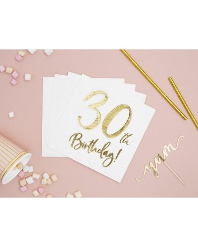 Serwetki na 30 urodziny Złote