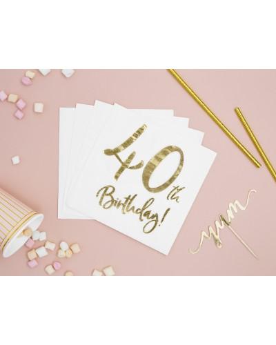 Serwetki na 40 urodziny Złote