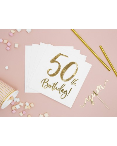 Serwetki na 50 urodziny Złote