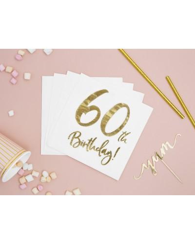 Serwetki na 60 urodziny Złote
