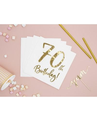 Serwetki na 70 urodziny Złote