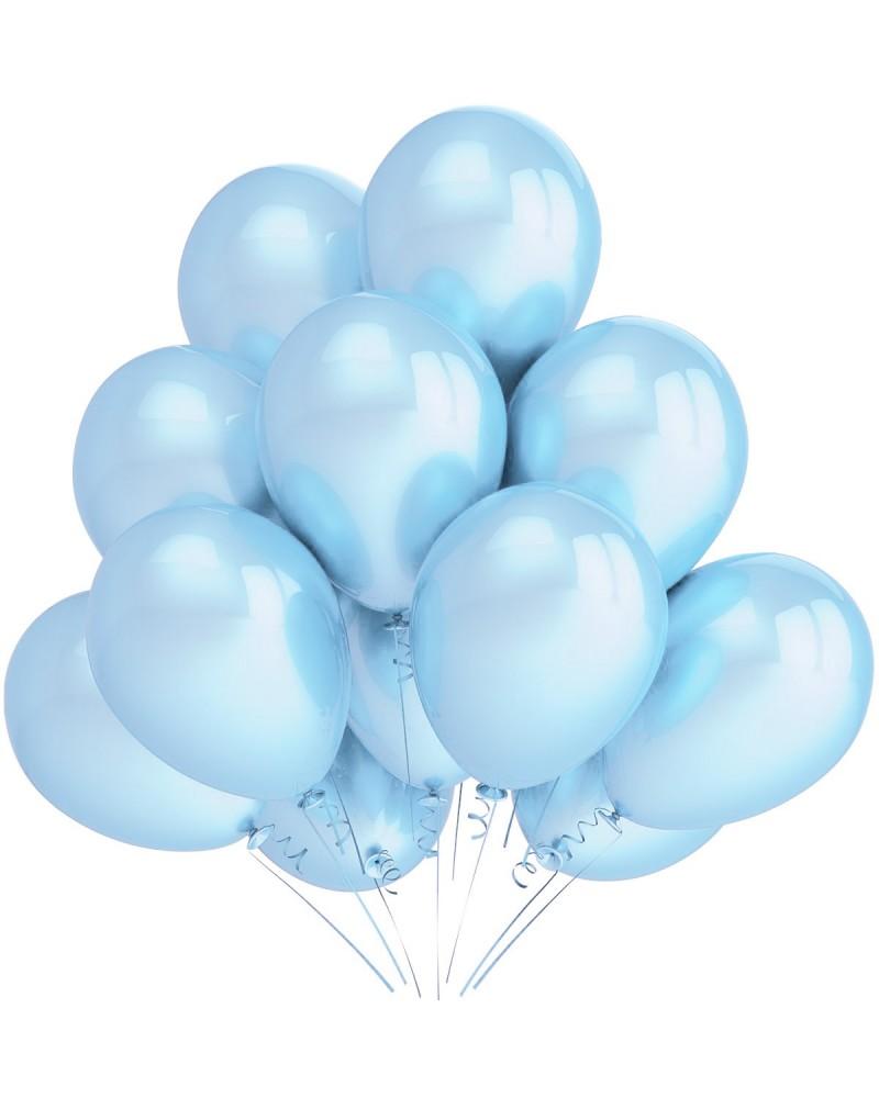 """Balony metaliczne 12"""" błękitne"""
