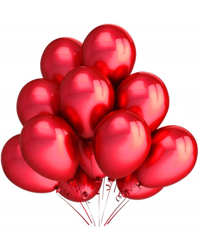"""Balony metaliczne 12"""" czerwone"""