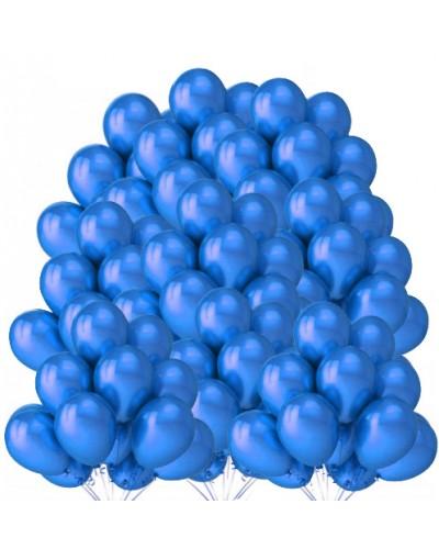 """Balony metaliczne 12"""" niebieskie 100 sztuk"""