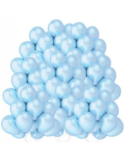 """Balony metaliczne 12"""" błękitne 100 sztuk"""