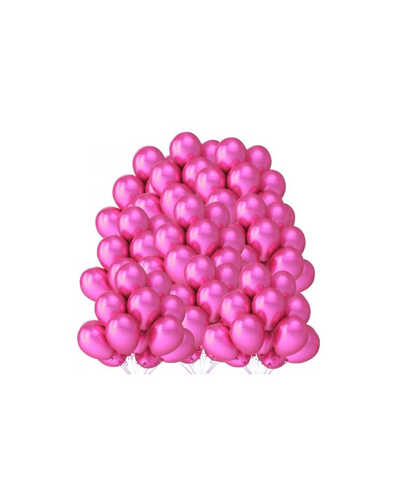 """Balony metaliczne 12"""" ciemno różowe 100 sztuk"""