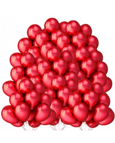"""Balony metaliczne 12"""" czerwone 100 sztuk"""