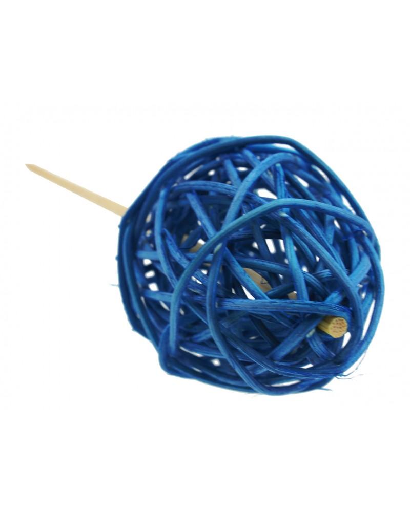 Jajko na piku Rattanowe, niebieskie