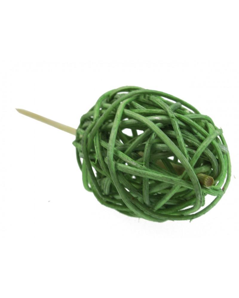 Jajko na piku Rattanowe, zielone