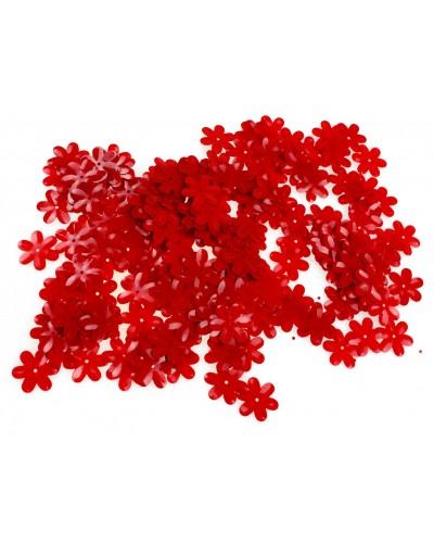 Cekiny w kształcie kwiatków czerwone, drobne