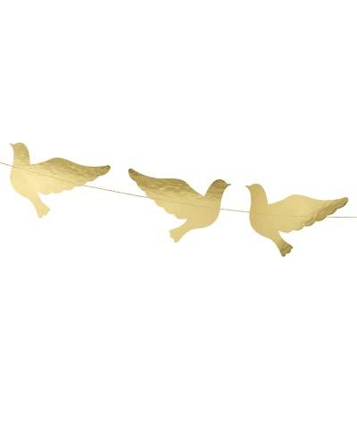 Girlanda na komunię, złota, gołąbki