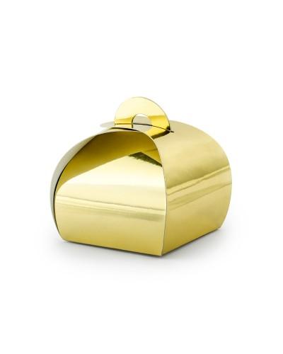 Pudełeczka ozdobne złote
