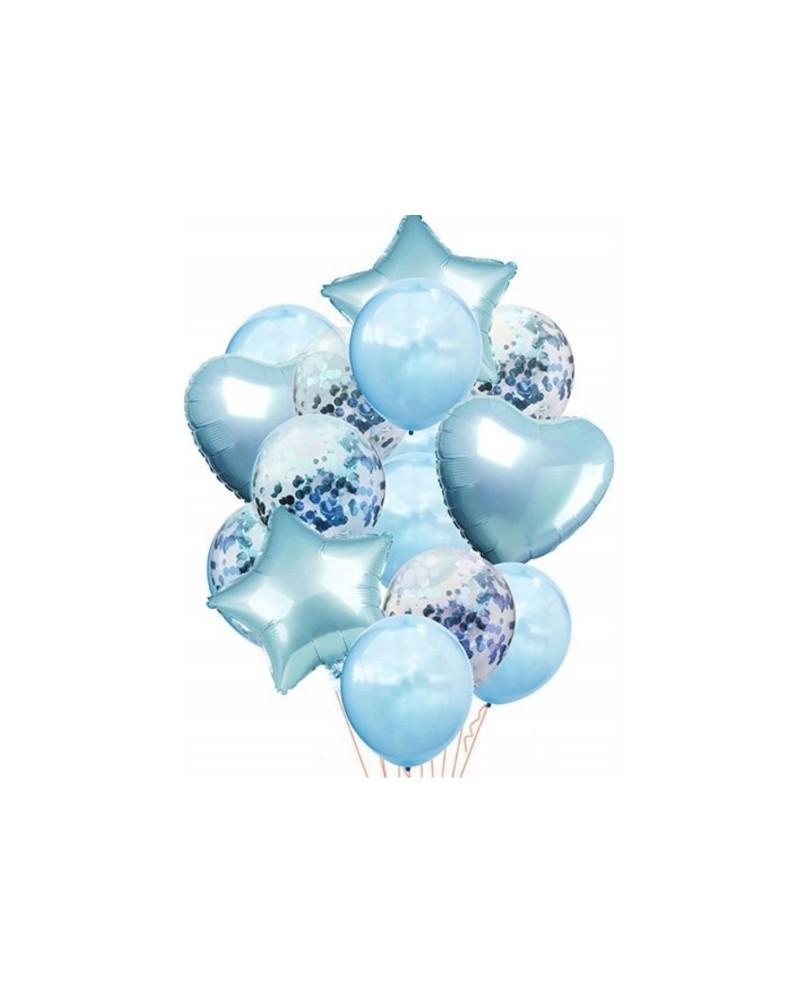 Zestaw na Urodziny Balony Błękitne