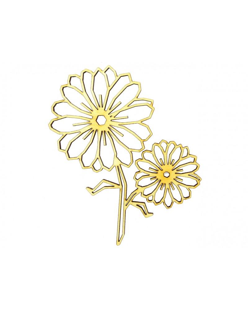 Drewniana sklejka w kształcie kwiatka, kwiatków