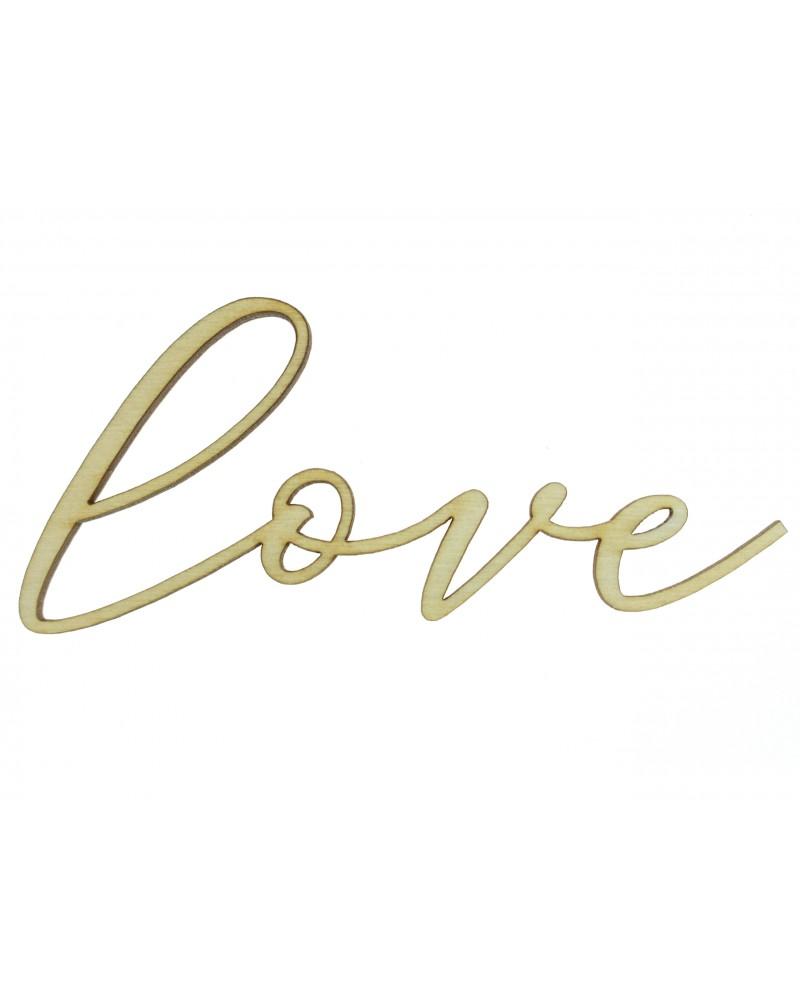 Love, drewniana sklejka do decoupage