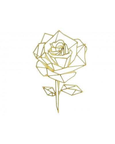 Roza, drewniana sklejka do decoupage