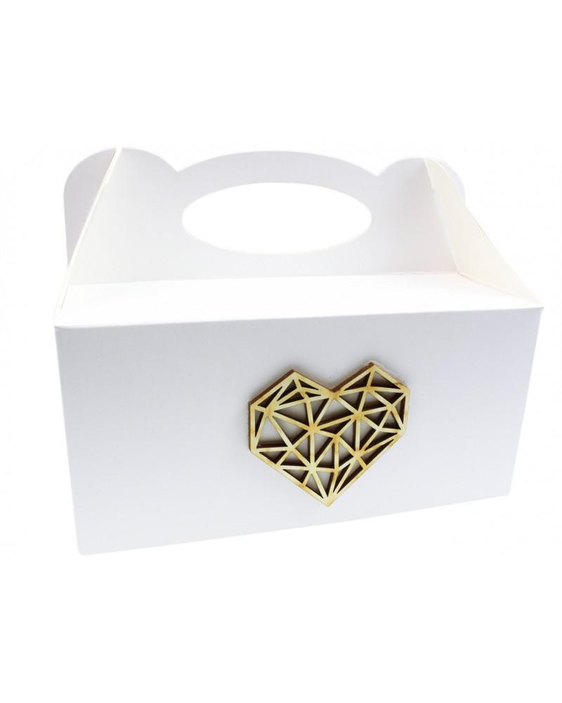 Pudełko na ciasto, Drewniane Serce