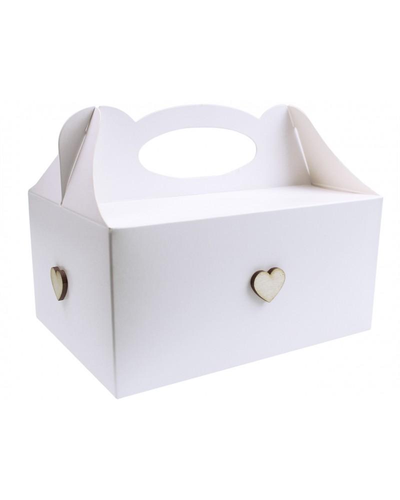 Pudełko na ciasto, Drewniane Serduszka