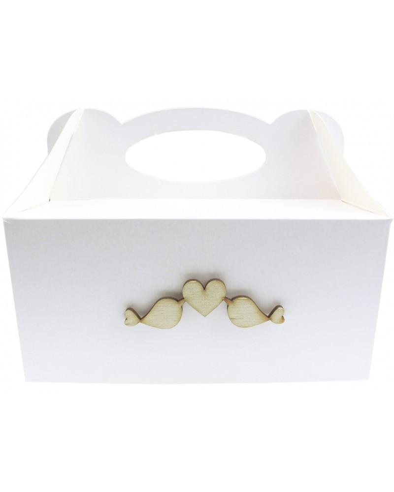Pudełko na ciasto, Drewniane Ptaszki