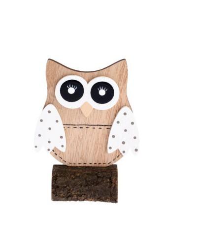 Drewniana sowa 9,5x12,5x5 cm Figurka