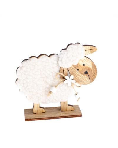 Drewniana owieczka 13x12x4 cm Figurka
