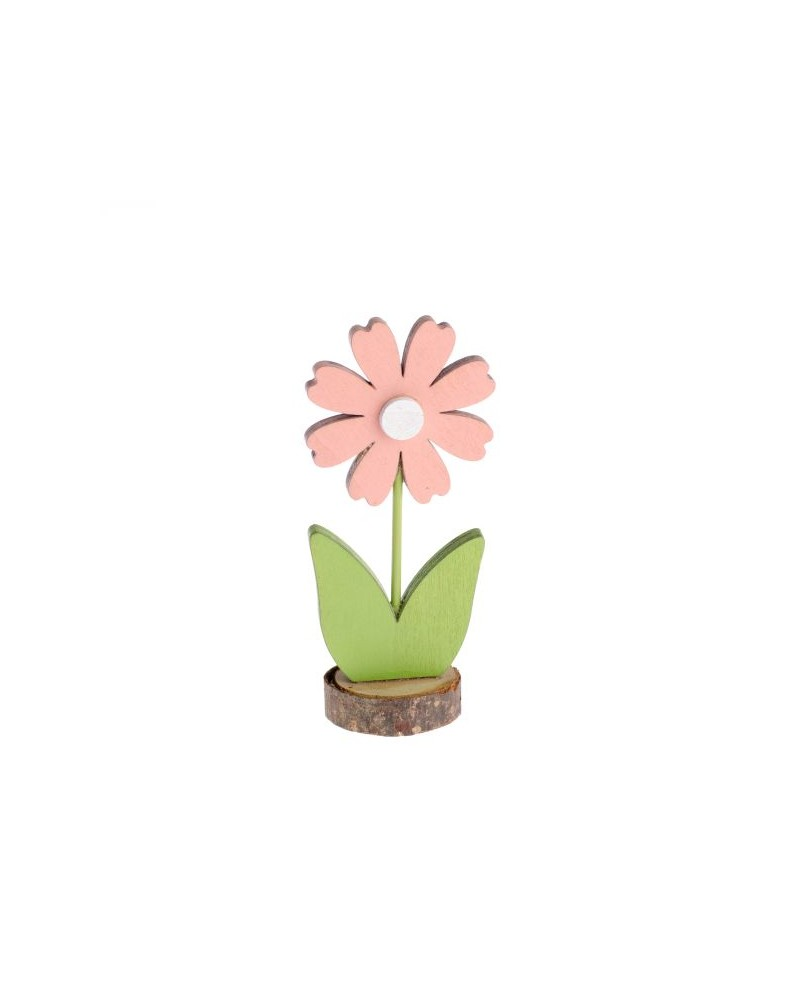 Drewniany kwiatek 16,5x7,5x5 cm
