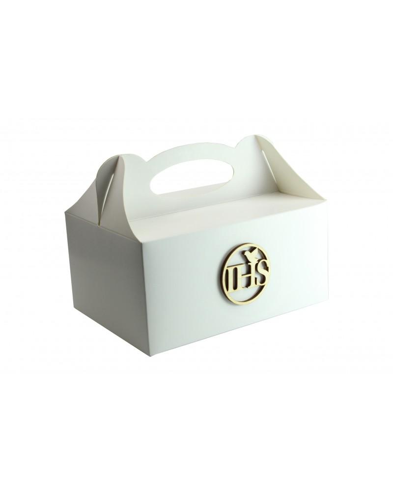 Pudełko na ciasto, Drewniany IHS 5x5cm