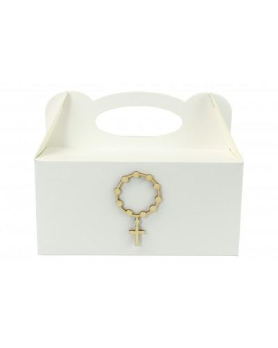 Pudełko na ciasto, Drewniany Różaniec EKO 7x4cm