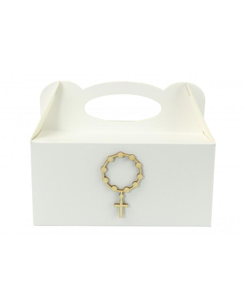 Pudełko na ciasto, Drewniany IHS 7x4cm