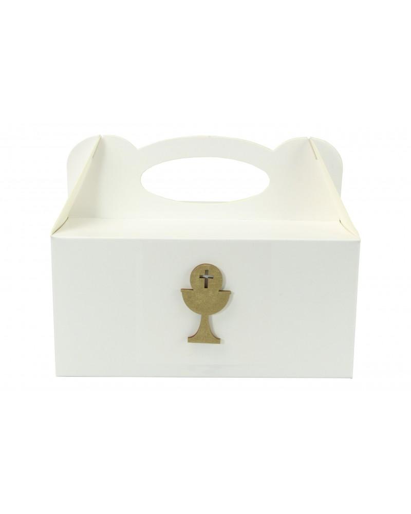 Pudełko na ciasto, Drewniany Kielich ✞ Złoty