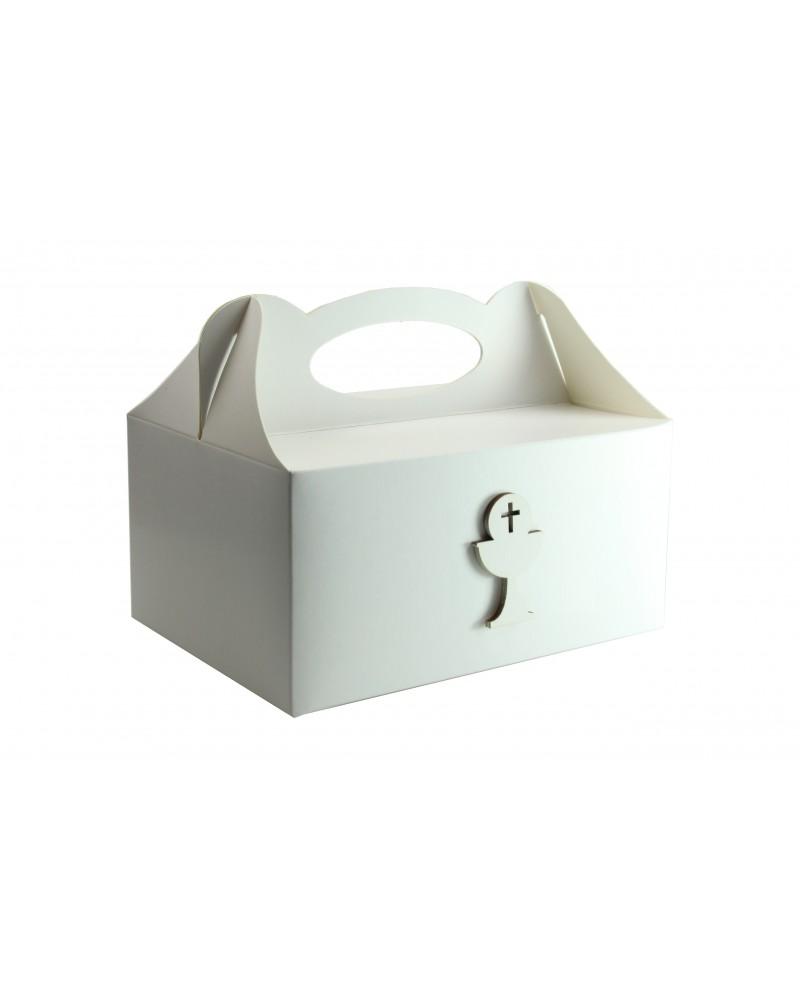 Pudełko na ciasto, Drewniany Kielich ✞ Biały