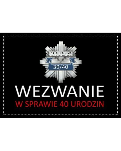 Zaproszenie na 40-stke Policja