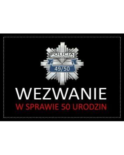 Zaproszenie na 50-tke Policja