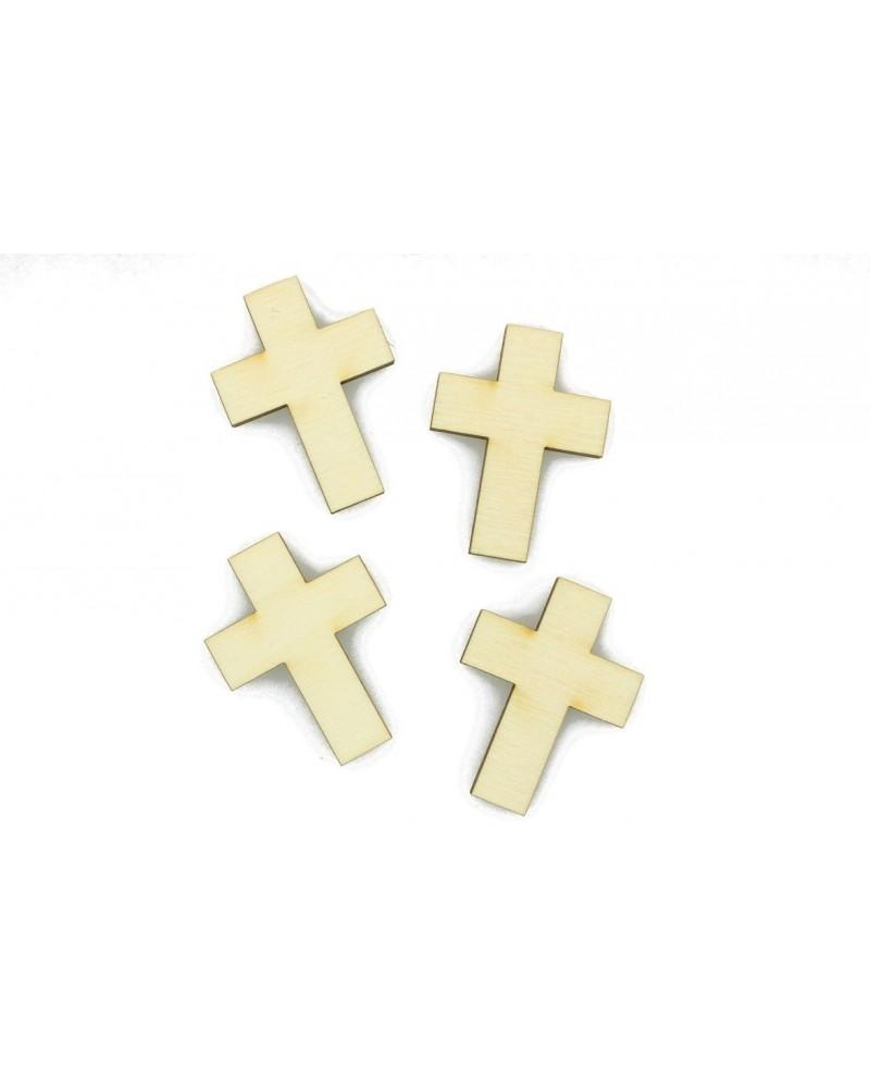 Drewniane emblematy Krzyże 3x2,5cm