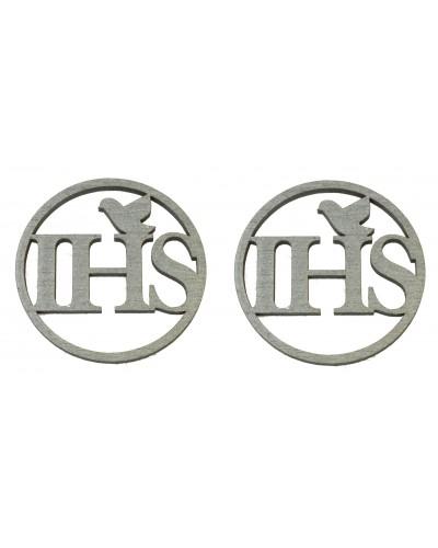 Drewniane IHS w kolorze srebrnym, przylepne