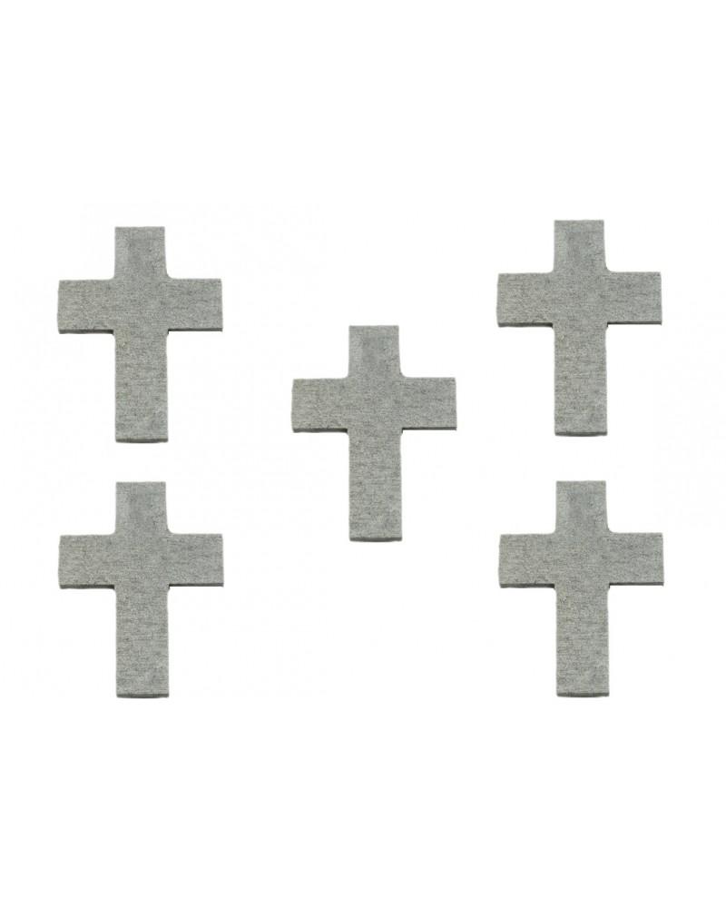 Srebrne krzyże Deocupage