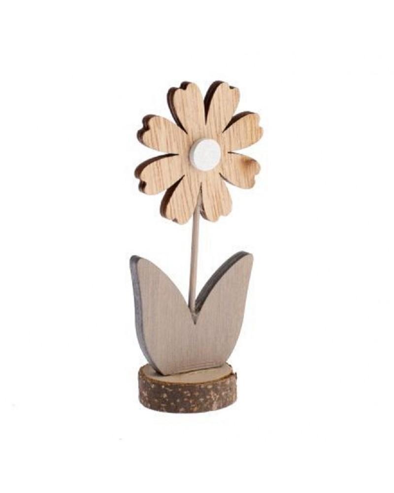 Drewniany kwiatek 11x5x3 cm Figurka