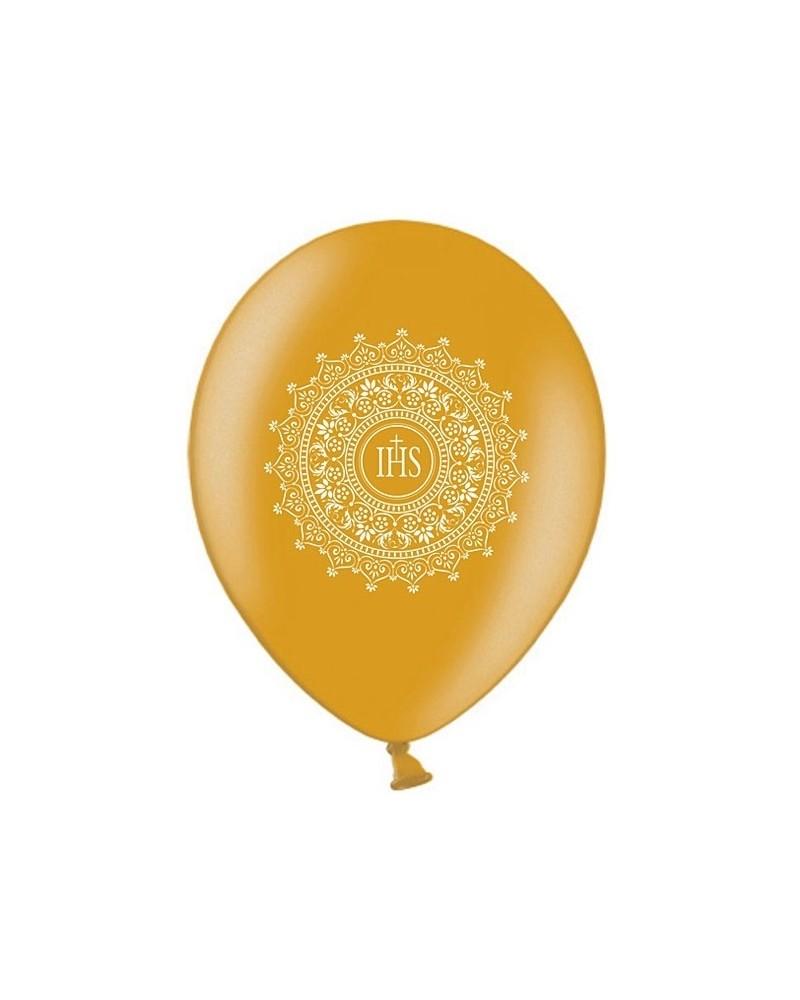 Balon na pierwszą Komunie Złoty