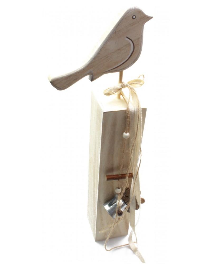 Drewniany ptaszek, ptak na stojaku