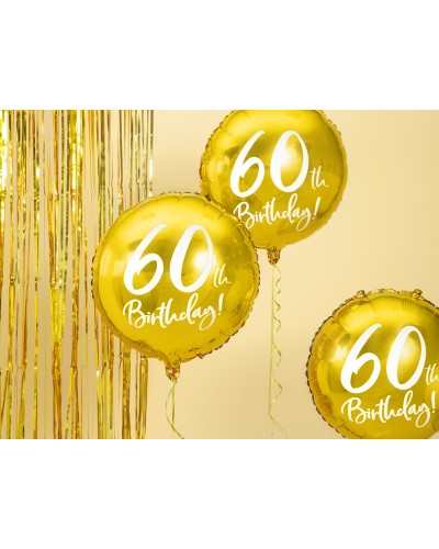 Balon 60th Birthday, Złoty