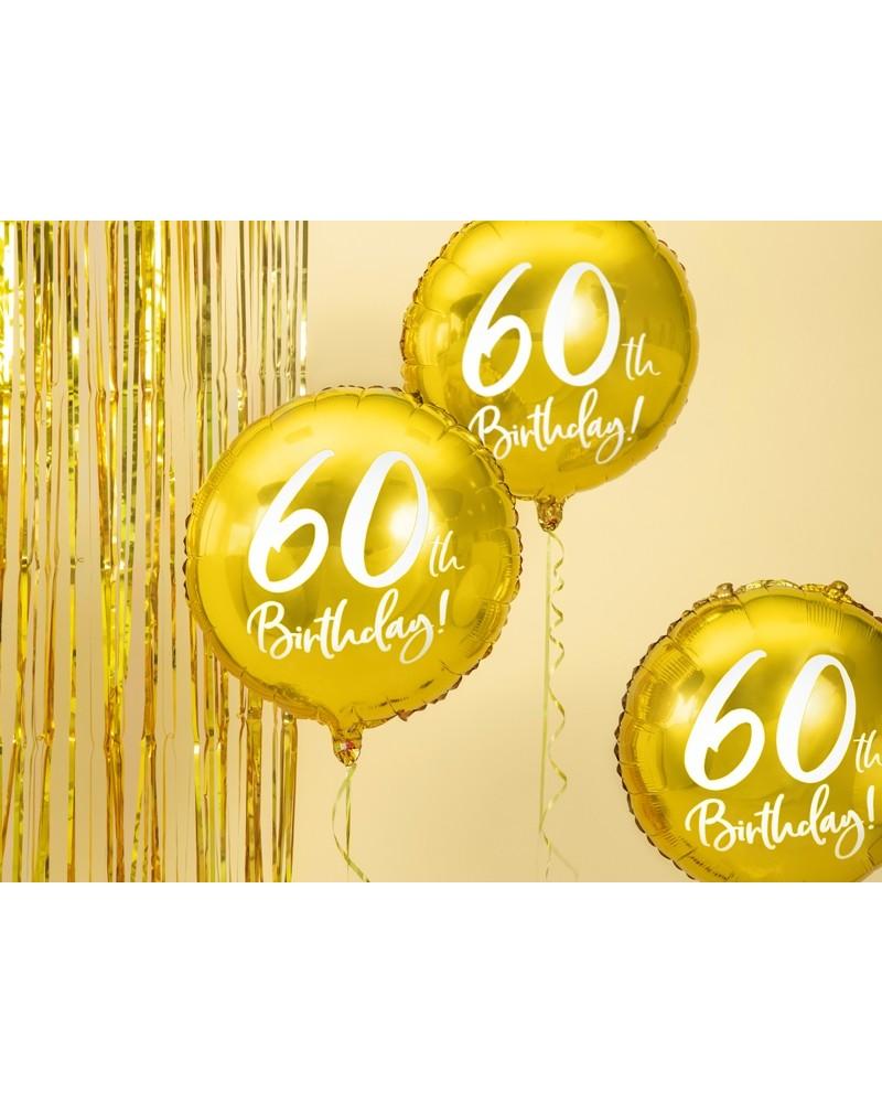 Balon 60th Birthday, Złoty