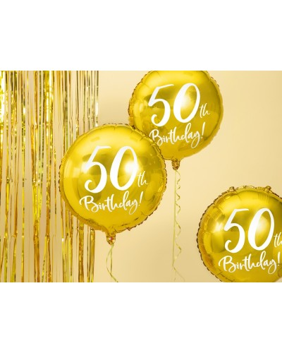 Balon 50th Birthday, Złoty