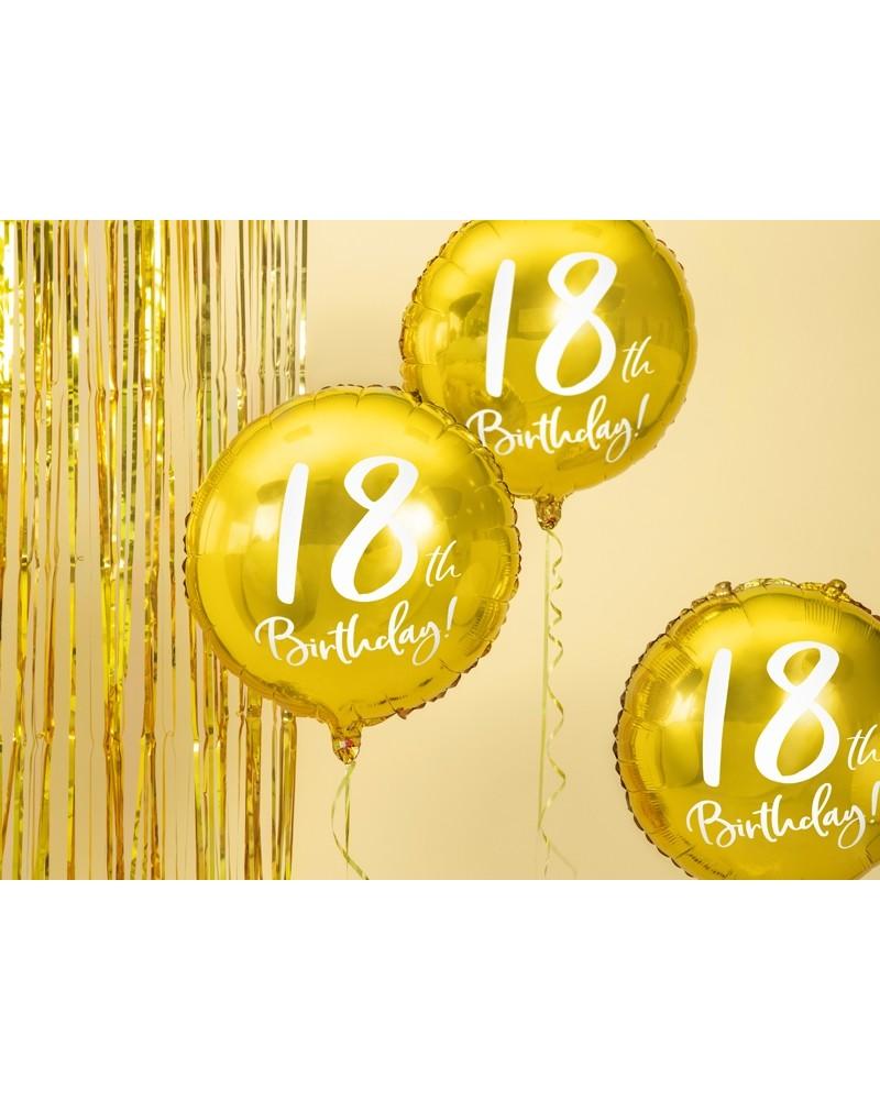 2da0dd8c6e7a1d Balon 18th Birthday, Złoty - Dekoracje urodzinowe Happenings.pl