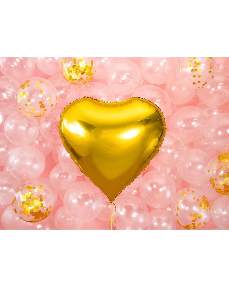 Balon Foliowy Serce złote 60cm