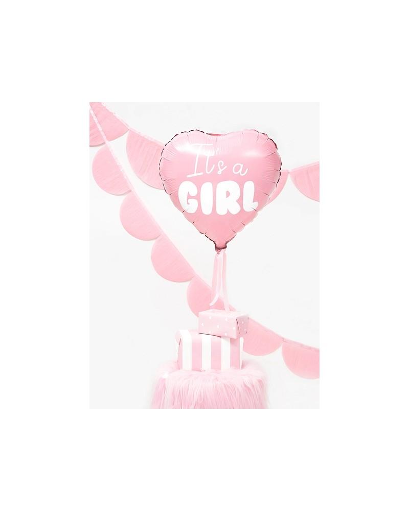 Balon foliowy serce - It's a girl